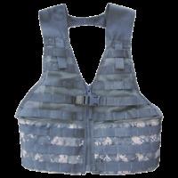 USGI Military Surplus Tactical Fighting Load Carrier FLC Vest MOLLE II ACU Used