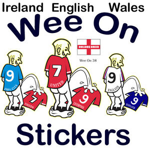 Car Sticker Football Wee/Pee on Your Rival Teams Shirt All UK teams available