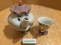 Beauty and the Beast Tokyo Disney Resort Mrs. Potts Tea Pot & Chip Tea Cup Set