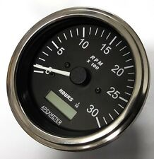 Tachometer Hourmeter 0-3000 RPM Alternator Diesel Engine 85MM +12V