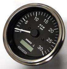 Tachometer Hourmeter 0 3000 Rpm Alternator Diesel Engine 85mm 12v