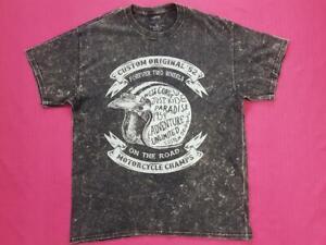 Men's Custom Original 52 Motorcycle Champs T-Shirt Short Sleeve Cotton Size UK L