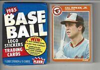 1985 Fleer Cal Ripken #187 Baseball Card + 1 Unopened 85 Fleer Wax Pack!