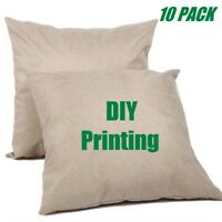 """10 PACK 16"""" x 16"""" Linen Sublimation Blank Pillow Case Cushion Cover DIY Printing"""