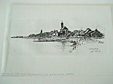 Otto Bacher Original etching Schwabelweiss 1879