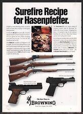 1992 BROWNING BL-22 A-Bolt Semi-Auto Rifle Buck Mark Target & Standard Pistol AD