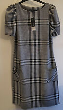 NWT Dorothy Perkins Size 10 Short Sleeve Grey Check Dress