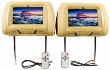 """Tview T726PL-TN 7"""" Tan Pair (2) LCD Car Headrest TV Monitor w/ IR Transmitter"""