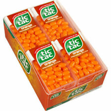 TIC TACS MINTS ORANGE CANDY PACK OF - 24 (10 gm each) ,free shipping worldwide
