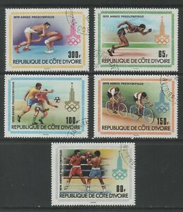 Thematic Stamps Sports - IVORY COAST 1979 PRE-OLYMPICS 5v 607/11 used