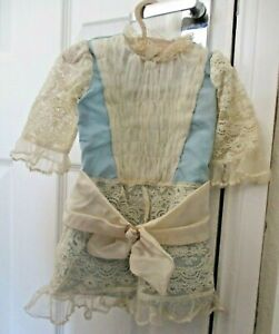 Beautiful French Dress And Bonnet For Antique Bisque Doll Jumeau, Bru etc
