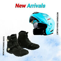 Modular Flip Up Front Motorbike Helmet Motorcycle Leather Shoes Touring Boots