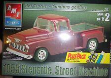 AMT 1955 CHEVY STEPSIDE STREET MACHINE PICKUP FS MODEL CAR MOUNTAIN KIT 1/25