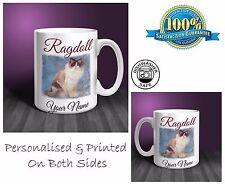 Ragdoll Cat Personalised Ceramic Mug: Perfect Gift. (CA05)