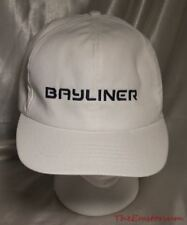 New Vintage Bayliner Boats White Cotton Twill Embroidered Logo Snapback Hat USA