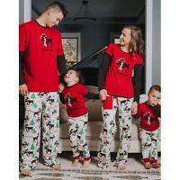 Family Matching Christmas Pajamas Set Men's Women Kids Deer Sleepwear Nightwear