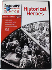 HISTORICAL HEROES DVD Discovery Channel School Social Studies Grade 6-12 History