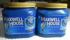 2 Empty Plastic Maxwell House Coffee Containers Craft Storage Garage Good Used