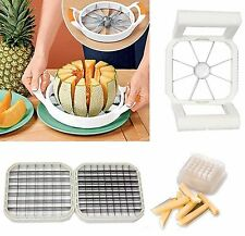 3 in 1 Mellon Cutter Kitchen Fruit Apple Potato Stainless Tool Multi Slicer
