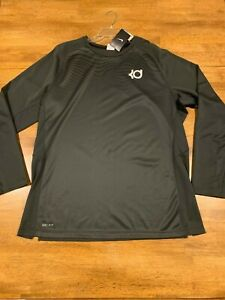 Nike Men's KD Kevin Durant T-shirt XL Long Sleeve Gray 620728 060 NEW With Tags