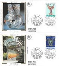4 ENVELOPPES 1er JOUR SOIE FDC 1994 - N° 2854/57 - ART NOUVEAU - BOURG la REINE