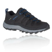 Merrell Mens Ontonagon Peak Waterproof Walking Shoes Black Sports Outdoors
