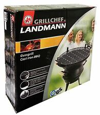 LANDMANN GRILL CHEF CAST IRON FIREBOWL BARBECUE BBQ CHARCOAL STOVE - 35CM