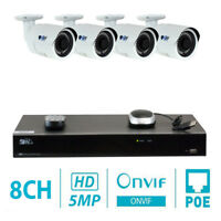 GW 8 Channel H.265 4K NVR 4 X 5MP PoE IP Camera Surveillance Security System
