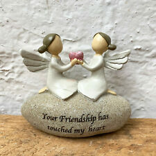 Friendship Angel Fairy Sentiment Message Friend Stone Decoration Ornament Gift