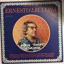 """SOFIA """"CHOFI"""" DE LA HOZ MUSICA DE ERNESTO LECUONA MEXICAN 1974 LP PIANO"""