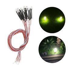 10pcs Dc3V 3mm Led Light Emitting Diodes Pre Wired Led Bulb for Hobby Toys