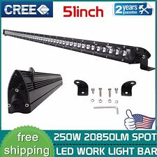 4D+ 51inch 250W CREE Single Row Led Work Light Bar Spot Boat Jeep Truck 50/52