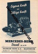 Mercedes-Benz AG Mannheim Diesel ab 10 PS Werbeanzeige von 1938 Reklame Motor