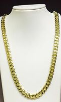 "18k Solid Yellow Gold Miami Cuban Curb Link 24"" 9 mm 160 grams chain/Necklace"