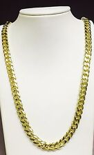 "18k Solid Yellow Gold Miami Cuban Curb Link 26"" 9 mm 178 grams chain/Necklace"