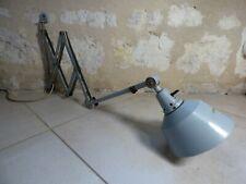 Ancienne lampe d'atelier ciseaux MIDGARD. Applique période JIELDE, ZIG ZAG, GRAS