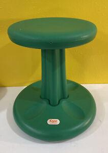 "Kore Design LLC 16"" Green Plastic Classroom Stool Wobble Chair Flexible Seating"