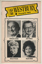Molly Picon, Jan Peerce, Myron Cohen Playbill 1981 Westbury Music Fair