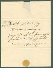 STRADE FERRATE LIVORNESI. Lettera per Firenze del 12.4.1860. Completa del testo.