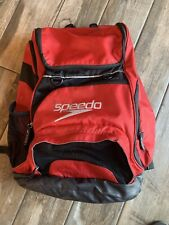 Speedo Large Teamster Backpack Swim Bag 35 L Liter Formula One Black Red