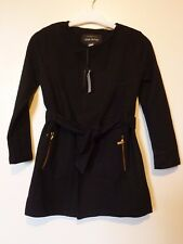 River Island Girls Glitter Bomb Belted Jacket 7-8 Years BNWT RRP £31.99 Black