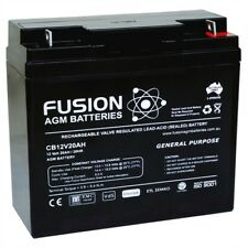 12V 20AH AGM BATTERY FUSION UPS GOLF CART POWER SUPPLY SCOOTER