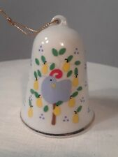 Vintage 1988 Lillian Vernon Christmas Bell Ornament Partridge In A Pear Tree
