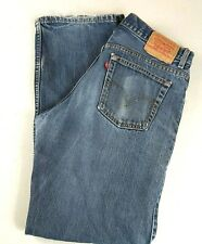 "Levis 528 Metro Fit Mens 34 x 32 Denim 12"" Rise Blue Jeans Made in Canada"