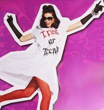 Womens Trendy Fashion GLAMOUR GHOST Halloween Costume Black Gloves Medium 10 NEW