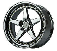 Aodhan DS05 18X9.5 +22 5X114.3 Black Chrome Vacuum  Rims 350Z 370Z 240Sx G35
