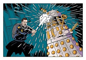 Doctor Who Art Print Ace vs The Daleks by Scott Gray