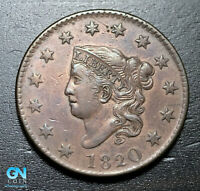 1820 Coronet Head Large Cent   --  MAKE US AN OFFER!  #B3663