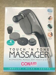 Conair Touch N Tone Portable Body Massager -  Hand Held Wand - 4 Attachments