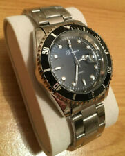 Gents submariner style quartz watch - new - black bezel